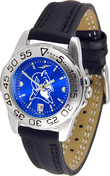 Duke Blue Devils Ladies Sport Leather AnoChrome Watch | SunTime | ST-CO3-DBD-SPORTL-A