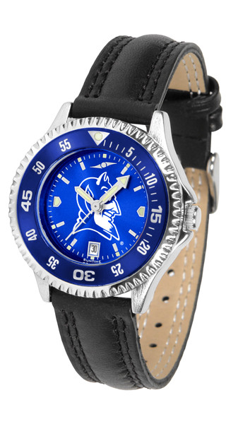 Duke Blue Devils Ladies Competitor AnoChrome Watch with Color Bezel | SunTime | ST-CO3-DBD-COMPL-AC