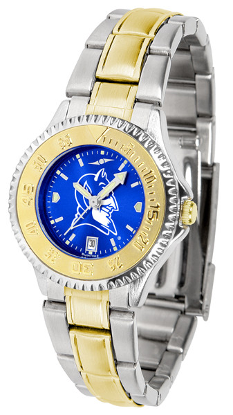 Duke Blue Devils Ladies Competitor Two-Tone AnoChrome Watch | SunTime | st-co3-dbd-complmg-a