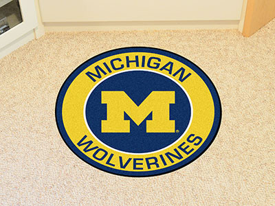 Michigan Wolverines Round Mat | Fanmats | 18619