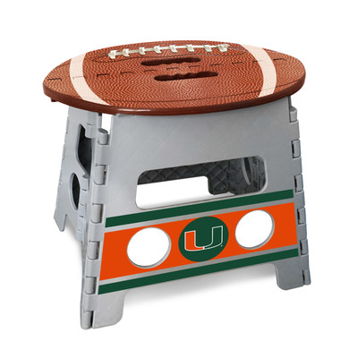 Miami Hurricanes Folding Step Stool | Fanmats | 24578