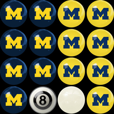 Michigan Wolverines Pool Ball Set | Imperial International | 50-4009