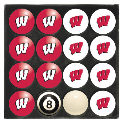 Wisconsin Badgers  Pool Ball Set | Imperial International | 50-4013