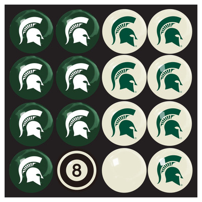 Michigan State Spartans Pool Ball Set | Imperial International | 50-4016