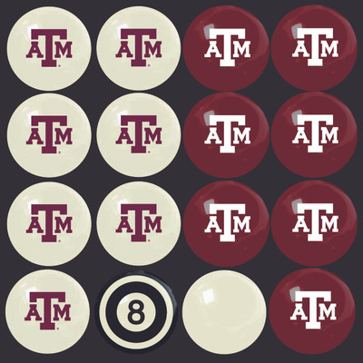 Texas A&M Aggies Pool Ball Set | Imperial International | 50-4021