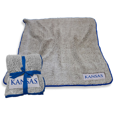 Kansas Jayhawks Frosty Fleece Blanket | Logo Chair | 157-25F-1