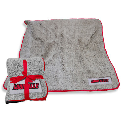 Louisville Cardinals Frosty Fleece Blanket | Logo Chair | 161-25F-1
