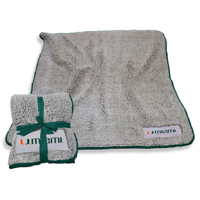 Miami Hurricanes Frosty Fleece Blanket | Logo Chair | 169-25F-1