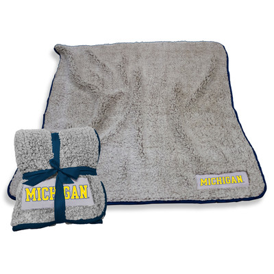 Michigan Wolverines Frosty Fleece Blanket | Logo Chair | 171-25F-1