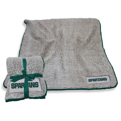 MSU Spartans Frosty Fleece Blanket | Logo Chair | 172-25F-1