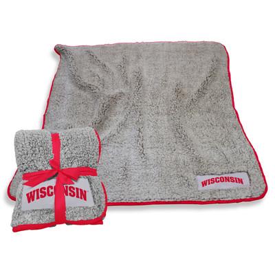 Wisconsin Badgers Frosty Fleece Blanket | Logo Chair | 244-25F-1