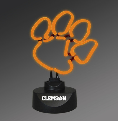 Clemson Tigers Neon Desk Lamp | Memory Company | MEM-CLM-1808