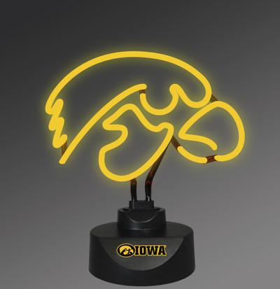 Iowa Hawkeyes Neon Desk Lamp | Memory Company | MEM-IOW-1808