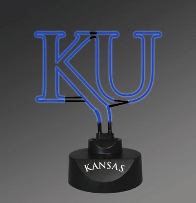 Kansas Jayhawks Neon Desk Lamp | Memory Company | MEM-KAN-1808
