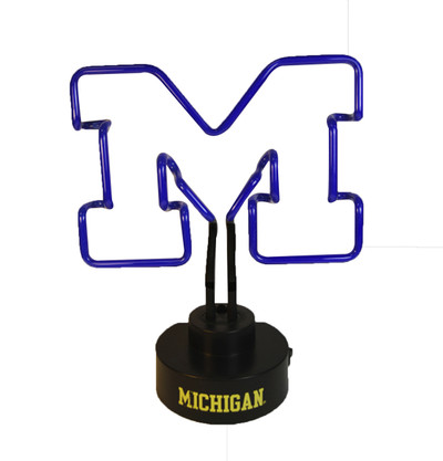 Michigan Wolverines Neon Desk Lamp | Memory Company | MEM-MH-1808