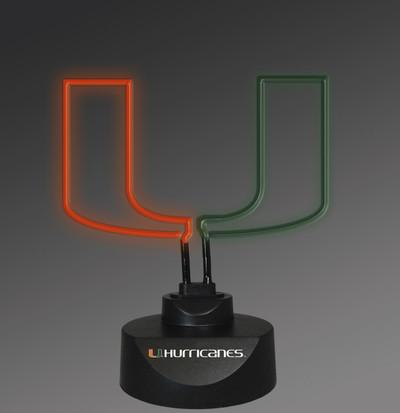 Miami Hurricanes Neon Desk Lamp | Memory Company | MEM-MIA-1808