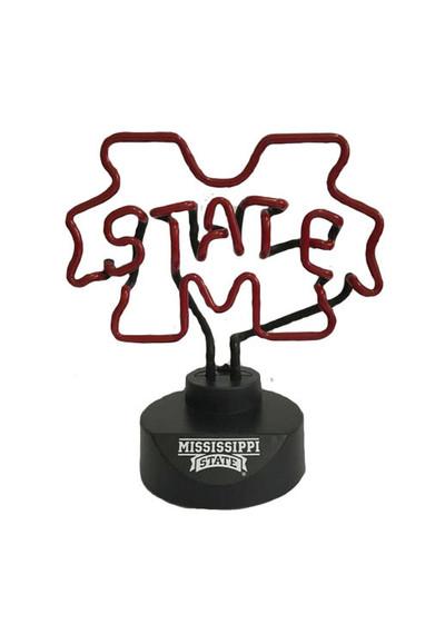 Mississippi State Bulldogs Neon Desk Lamp | Memory Company | MEM-MMS-1808