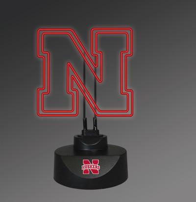 Nebraska Huskers Neon Desk Lamp | Memory Company | MEM-NEB-1808