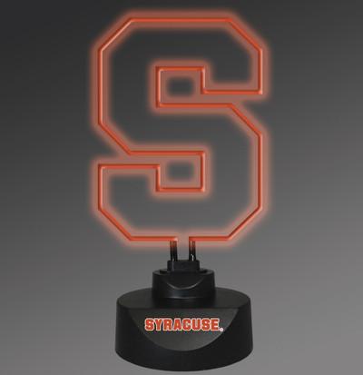 Syracuse Orange Neon Desk Lamp   Memory Company   MEM-SYR-1808