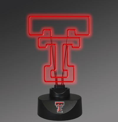 Texas Tech Red Raiders Neon Desk Lamp   Memory Company   MEM-TXT-1808