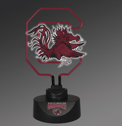 South Carolina Gamecocks Neon Desk Lamp | Memory Company | MEM-USC-1808