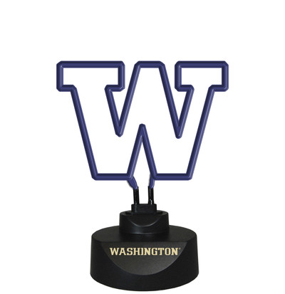 Washignton Huskies Neon Desk Lamp Neon Desk Lamp | Memory Company | MEM-UWA-1808