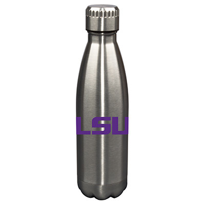 LSU Tigers 17oz Stainless Steel Water Bottle  | Memory Company | MEM-LSU-710101