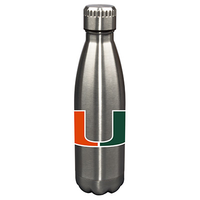 Miami Hurricanes 17oz Stainless Steel Water Bottle | Memory Company | MEM-MIA-710101