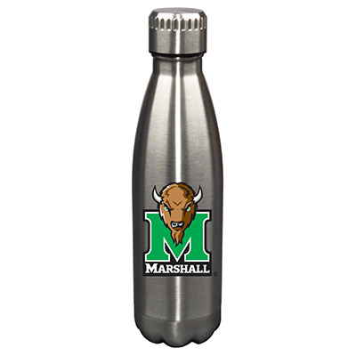 Marshall Thundering Herd 17oz Stainless Steel Water Bottle | Memory Company | MEM-MTH-710101