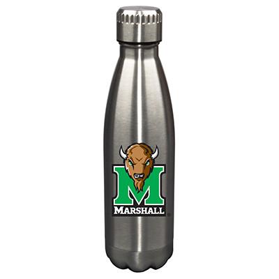 Marshall Thundering Herd 17oz Stainless Steel Water Bottle   Memory Company   MEM-MTH-710101