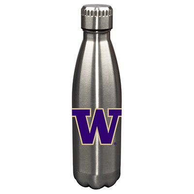 Washington Huskies 17oz Stainless Steel Water Bottle | Memory Company | MEM-UWA-710101