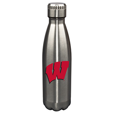 Wisconsin Badgers 17oz Stainless Steel Water Bottle | Memory Company | MEM-WIS-710101
