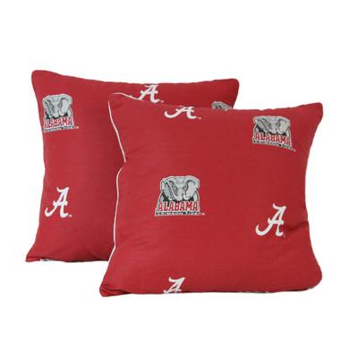 "Alabama Crimson Tide 16"" x 16"" Decorative Pillow Pair | College Covers | ALADPPR"