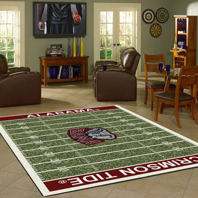 Alabama Crimson Tide Football Field Rug | Milliken | MIL4000054611
