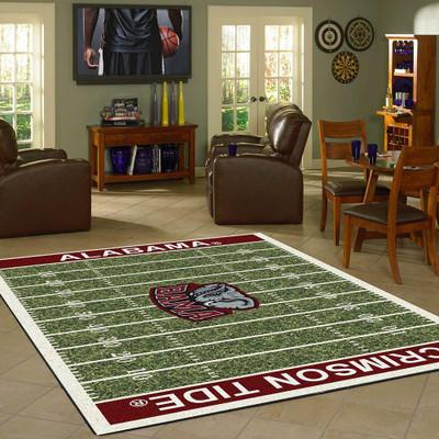 Alabama Crimson Tide Football Field Rug | Milliken | MIL4000054611