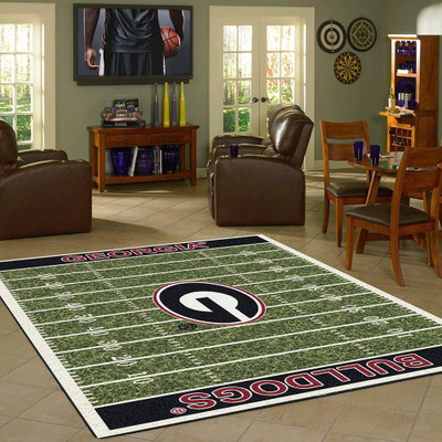 Georgia Bulldogs Football Field Rug | Milliken | 4000052311