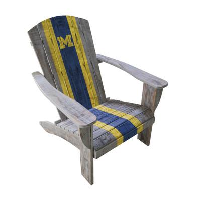 Michigan Wolverines Wooden Adirondack Chair | Imperial International | 711-7009