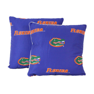 "Florida Gators 16"" x 16"" Decorative Pillow Pair   College Covers   FLODPPR"