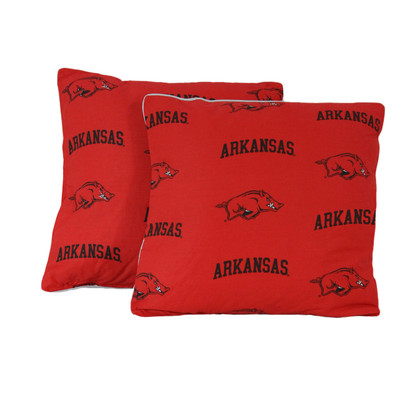 "Arkansas Razorbacks 16"" x 16"" Decorative Pillow Pair 