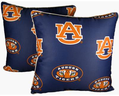 "Auburn Tigers 16"" x 16"" Decorative Pillow Pair | College Covers | AUBDPPR"