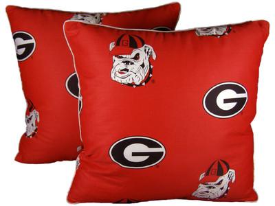 "Georgia Bulldogs 16"" x 16"" Decorative Pillow Pair | College Covers | GEODPPR"