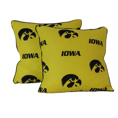 "Iowa Hawkeyes 16"" x 16"" Decorative Pillow Pair | College Covers | IOWDPPR"