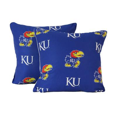 "Kansas Jayhawks s 16"" x 16"" Decorative Pillow Pair | College Covers | KANDPPR"