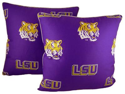 "LSU Tigers 16"" x 16"" Pillow Pair"
