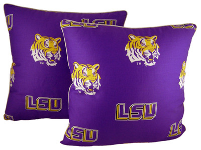 """LSU Tigers 16"""" x 16"""" Decorative Pillow Pair 