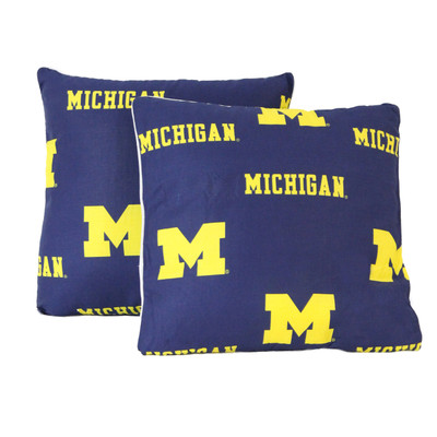 "Michigan Wolverines 16"" x 16"" Decorative Pillow Pair 