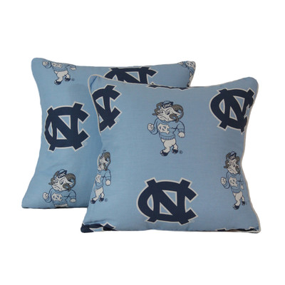 "UNC Tar Heels 16"" x 16"" Decorative Pillow Pair 