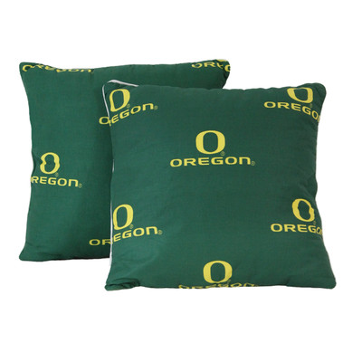 "Oregon Ducks 16"" x 16"" Decorative Pillow Pair | College Covers | OREDPPR"