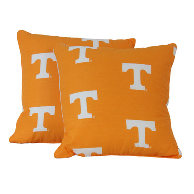 "Tennessee Volunteers 16"" x 16"" Decorative Pillow Pair 