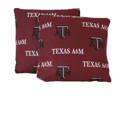 "Texas A&M Aggies 16"" x 16"" Decorative Pillow Pair 